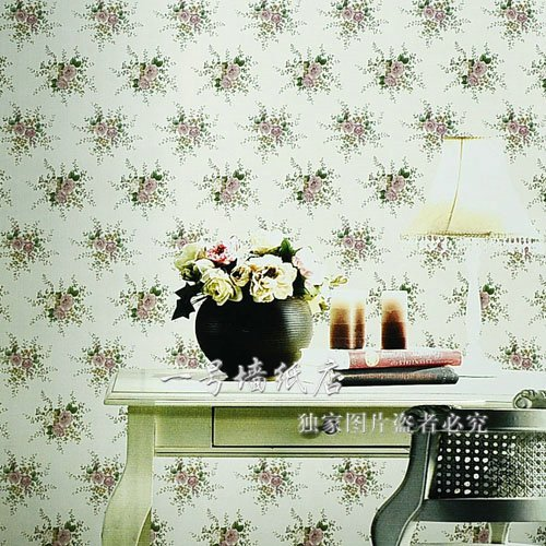 Brief rustic pvc fashion small flower wallpaper background ml2 e1002 light color natural(China (Mainland))