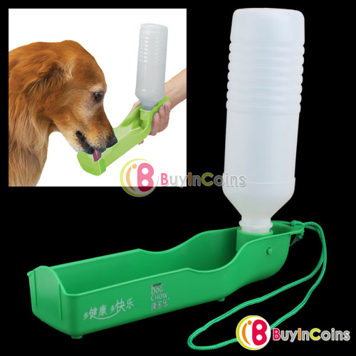 500ML Pet Dog Cat Outdoor Portable Drinking Bottle Bowl[6819|01|01](China (Mainland))