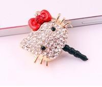 Free Shipping - wholesale plug HELLO Kitty mobile phone dustproof plug mia love
