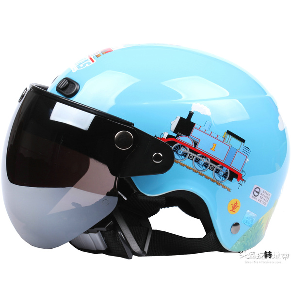 Thomas thomas small train water blue electric motorcycle child helmet harley helmet(China (Mainland))