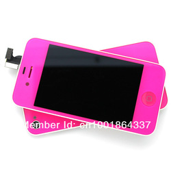 Candy Pink Full Color Conversion Kit/set LCD Digitizer Touch Assembly+Back Cover for iPhone 4 CDMA Verizon,Free Shipping(China (Mainland))