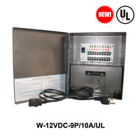 UL LISTED VideoSecu 9Output 12 V DC CCTV Distributed Power Supply Box for Security Camera with lock10a ptc
