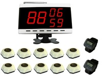 Freeshipping Wireless Service Calling.10 bells and 2 watch receivers, 1 Display.