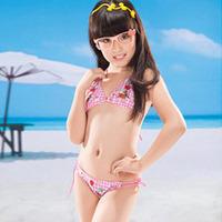 2012 bikini swimwear female child bikini swimwear 1949