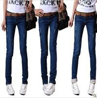 2013 women's summer slim jeans skinny pencil pants jeans pants