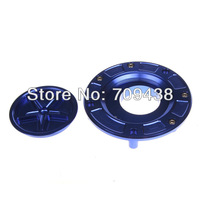 Fuel Gas Tank Cover Cap For HONDA RC51 2000-2006 CBR 1000 RR CBR1000RR 2004-2010 Billet CNC Keyless BLUE