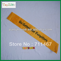 """free shipping """"Go Getters for Forgetters"""" Printing Sash 5pcs/lot"""