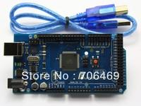 5pcs/lot ATmega2560-16AU ATMEGA8U2 Board with USB Cable for IDE MEGA 2560