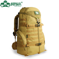 60 liters tactical outdoor brand backpack men,mountaineering bag,men's canvas military backpacks for sale camo bags,rucksack