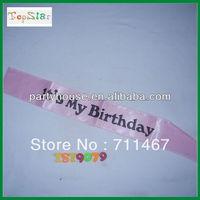 """free shipping """"It's My Birthday"""" Lettering Birthday Satin Sash 5pcs/lot"""