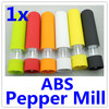 Kitchen Cooking ABS Electric Pepper Spice Salt Mill Grinder Muller with Light 6 colors IN STOCK 2pcs