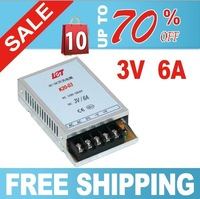 Free shipping 3V 6A Ultra thin Single Output Switching power supply for led driver Strip light 90V-260V AC Input