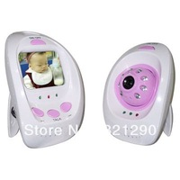 2013 new 2.4ghz Wireless Baby Monitor Support the intercom and night vision function Free shipping