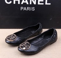 Fashion all-match metal decoration round toe flat heel flat shoes plus size