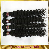 Wholesale Cheap Brazilian Virgin Hair Weaving Deep wave Mixed Length 4pcs lot Human Hair Extension Natural Color Free Shipping