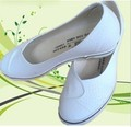 Plate nurse shoes wedges white plus size elevator canvas shoes female shallow mouth pedal work shoes