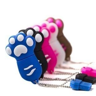free shipping 2013 Original chip 8g cartoon bear paw usb flash drive personalized cat's claw gift usb flash drive
