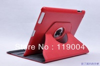 10 Free shipping 360 degree Rotate PU Leather Cover Case for iPad 2, for iPad 3 stand, can rotate 360 degree, magic girl pattern