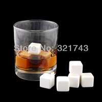 9X Whiskey Whisky Scotch Soapstone Cold Glacier Stone Ice Cube Rocks with Bag, Color: Ceramics