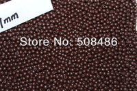 500x Wooden Craft Ball 7mm Brown Color 1058