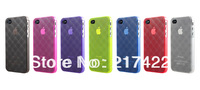 Transparent Frosted Matting 3D Diamond Shape Backside Phone Case for Iphone 4 4S  Mixed Color Selection
