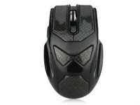 New 2.4G Wireless PC game Mouse Brilliant Black Print 6 Buttons