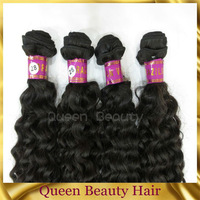 Mixed Length Brazilian hair Virgin Human Remy hair extensions Curly wave Weft machine weft 10pcs lot AAAA Grade Free shipping