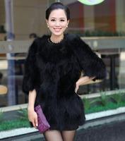 Low! Genuine Raccoon fur coat/women's fur jacket OEM/Retail/Wholesale/free shipping EMS TF061