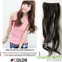 High temperature wire hair extension piece /volume hair piece /Not reflective  medium-long 3 clip hair piece