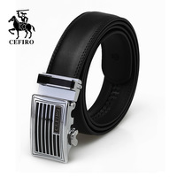 business casual genuine leather automatic buckle strap male black strap fashion cowhide belt