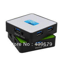 Free Shipping 2013 Newest Supper Speed USB 3.0 External HUB Adapter for PC Laptop HDD MP3 Mouse