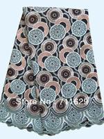 Swiss Cotton Voile Lace,High Qualit African Lace Fabric,Swiss Lace,Heavy Afrique Lace,Black&Aqua Newest Design