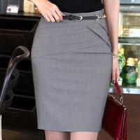 2014 Spring New 3 Color High Waist Career Short Skirts Slim Hip Knee-Length Pencil Skirt Women's Fashion