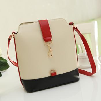 FLYING BIRDS! preppy style vintage color block women's handbag bucket shoulder bag messenger bags HP046A