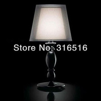 2013 new version 1 Light Double lampshade table lamp bedroom lamp also for Wholesale Free Shipping