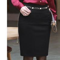 new arrival solid knee-length career short skirt slim hip pencil skirt women's fashion 2013