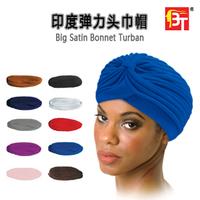 2014 new Hat elastic hat bandanas big satin turban bonnet kc Free shipping over 15 $ 10 colors/lot