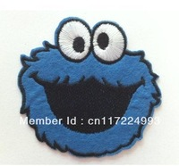 Free Shipping~10 pcs x Embroidered Cookie Monster Iron On Patch Sew On Applique~ Wholesale DIY accessory