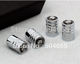 Jaguar Chrome Wheel Tyre Tire Valve Stem Caps Air Dust Covers