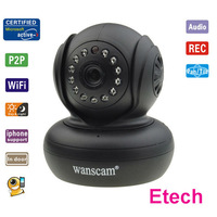 Two-way Audio Lens 3.6mm IR 10m Night Vision PanTilt WIFI Remote Network Security Surveillance IP Camera 3G Phone View S595
