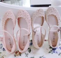 Jelly shoes flower cutout sandals elevator sandals reticularis bird nest beach women's shoes wedges boots