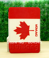 Canada flag Stand Leather Case Cover for Samsung Galaxy  Table pc P3100