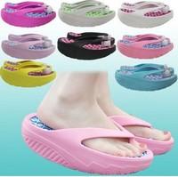 Summer female swing platform wedges shoes hole shoes sandals flip flops shoes slimming slippers