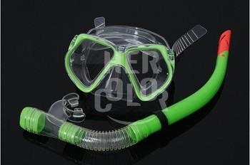 PVC Swimming Swim Dive Diving Scuba Goggles Glass Mask Snorkel Set  free shipping