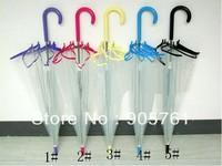 DHL & FedEx & UPS free shipping transparent Apollo rain umbrella fashion girl umbrella 5 colors 5pcs/lot