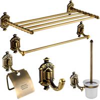 Fashion antique copper bathroom set vintage antique brass towel rack towel rack shelf