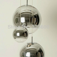 Pendant Lights Chrome Glass Ball Bubble pendants lamp diameter 30cm(11.8 inch) one light EMS Fast Shipping