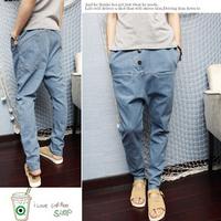 free shipping  plus size men low-rise pants harem pants baggies skinny pants hiphop cone jeans