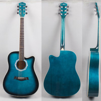 Please consult a stock before payment Kimes 41 folk guitar gradient blue cutaway acoustic guitar