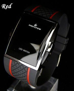 2009 watch intercrew led digital watch red(China (Mainland))